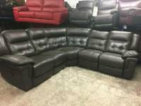 Ex display Lazy boy electric recliner in real leather