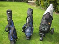 Complete Set of Golf Clubs, 3 Bags, Trolley and Extras
