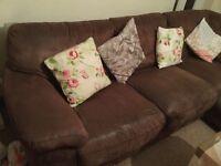 Brown corner sofa (free)