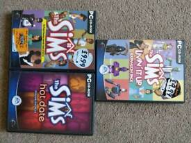 The sims and expansion packs