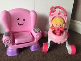 Fisher price walker and reading chair