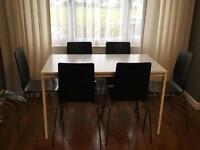 Ikea Melltorp table & 6 Martin chairs!!!