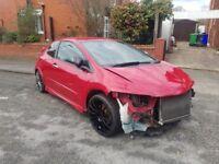2007 Honda Civic Type R FN2 Damaged Salvage Repairable CAT S