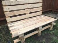 Handmade Rustic Outdoor Garden Two-Person Seat
