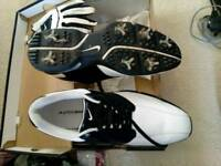 Nike vintage look Size 11 golf shoes with glove
