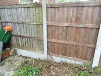 5ft high vertilap fence panels x7