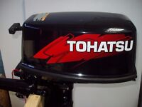 Tohatsu 5hp 2 stroke outboard engine motor boat auxiliary, long shaft orkney fishing dory