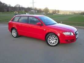 Audi A4 2.0T Fsi Avant Estate ★★BRIGHT RED★★LONG MOT★★FINANCE AVAILABLE ★ ★