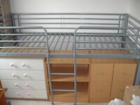 Hyder Metal Mid Sleeper Bed with under bed storage