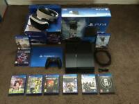 PS4 500GB + VR HEADSET VERSION 2 , FULL PACKAGE ,