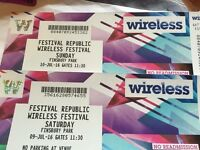 WIRELESS FESTIVAL 2016 SUNDAY TICKET