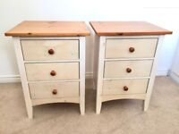 Two all-wood bedside cabinets in very good condition