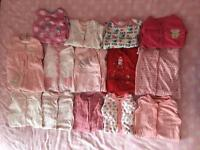16 sleepsuits, 22 vests & 17 bibs from next & boots (6-9 months)