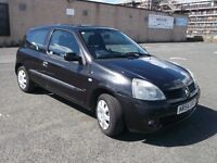 TRADE IN TO CLEAR RENAULT CLIO EXTREME 3 2004 16V 1.2 BLACK 3 DOOR 2 OWNERS MOT APRIL 17 SOME HISTOR