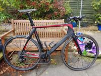 Planet X carbon 1x11 flat-bar road bike – N2A 58cm Mavic SRAM