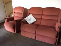 Sherborne Three Piece Suite with a Rise /Recline chair