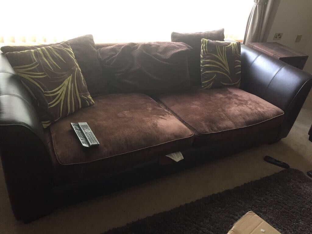 Leather & upholstered Sofas (4 piece set)