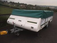 LARGE CAR TRAILER ONLY IDEAL FOR QUAD MOTORBIKE TEAR DROP CHASSIS