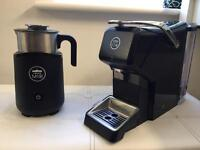 Lavazza coffee machine and milk frother