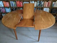 Danish style teak extending round dining table 1960s vintage gplanera