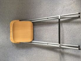 Ikea Franklin bar stool with backrest new, foldable.