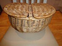 Wicker Picnic / Storage Basket