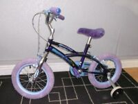 """girls street fox puppy love bike with stabilizers and 14"""" wheels, please read before calling."""