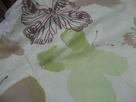 Lime green butterfly design - duvet - bed runner - 2 pillow cases - cusion
