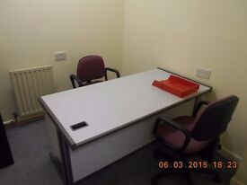 Cheap rent for fully furnished office - 67sq ft. Includes ALL bills & free Wi-Fi.
