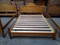 Solid Pine, antique pine finished, Piza style standard king size frame, HUGE DISCOUNT just £45!