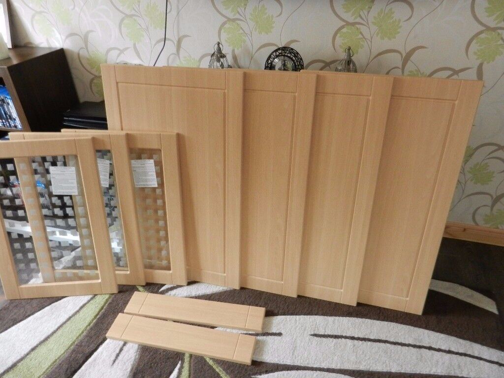 Brand New Beech Effect Kitchen Unit Doors B Q Reduced Now To Only