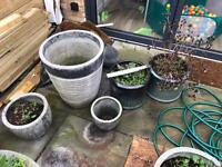 10 different sized planters