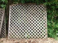 arched lattice fence panels