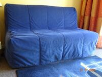 Little used Ikea metal framed sofa double bed