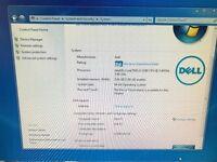 "Dell PC i3 (3240 3rd gen cpu) 8gb ram 320gb HD 15"" tft Win 7 OS Disk"