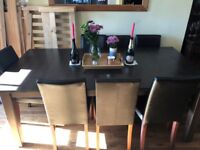 Dining Table with chairs - 8 People - Dark Wood - Negotiable