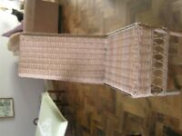 4 lovely NEXT wicker/cane dinning chairs never used