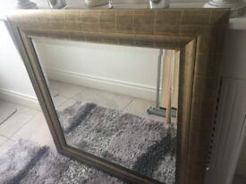 Bevelled Gold Frame Mirror