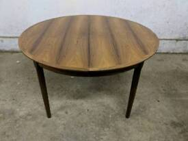 Rosewood Extending Dining Table IB Kofod Larsen? With leaves