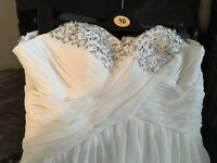 Size 12 empire wedding dress with diamonte detail
