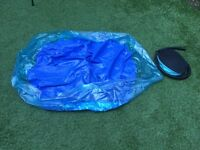 Blue paddling pool plus pump
