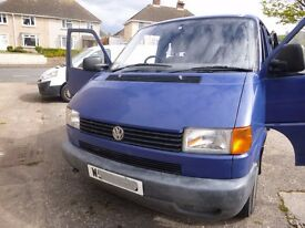 VW T4 Transporter. Removable T5 rear seats. MOT until Feb 18. Very reliable but bodywork is rusty.