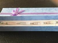 Genuine sterling silver bracelet hallmarked 925