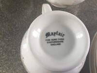 6 piece bone china coffee set ,jug, and sugar bowl and coffee pot