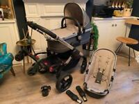 ICANDY PEACH 3 TRAVEL SET in truffle grey.Including adapters for a car seat & Lascal buggy board.