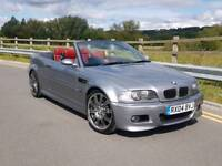 2004 BMW M3 3.2 SMG CONVERTIBLE INDIVIDUAL GREY RED LEATHERS AC SCHNITZER FULLY LOADED MAY PX