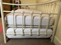 Single/double metal bed with trundle (extra single bed underneath)