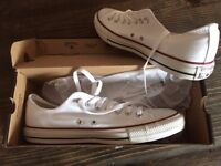 CONVERSE All star ox optic white trainers Men size UK10 BRAND NEW