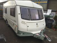 1997 abi NorthStar twin axle 4 berth end bathroom touring caravan with awning