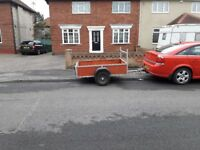 Car Trailer 6ft x 4ft Good Strong Axle Trailer - Unbraked